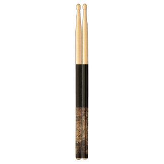 Rose Pink Mauve w/solid black Design Drumsticks