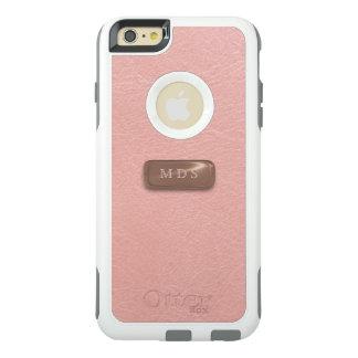 Rose Pink OtterBox 3D Rose Gold Monogram OtterBox iPhone 6/6s Plus Case