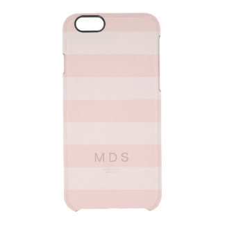 Rose Pink Stripe Clear iPhone 6/6S Case
