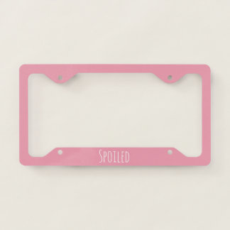 Rose Pink Template License Plate Frame