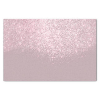 Rose Pink White Metallic Glitter Abstract Sparkly Tissue Paper