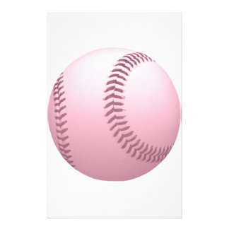 Rose Pinkish Colored Baseball Stationery