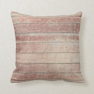 Rose Powder Gold Glam Metallic Wood Grungy Maroon Throw Pillow
