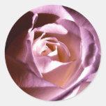 Rose Purple Mauve Round Stickers