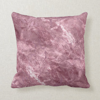 Rose quarts with Pink glitter accents Throw Pillow