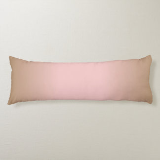 Rose Quartz and Iced Coffee Ombre Pink Brown Body Pillow