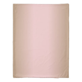 Rose Quartz and Iced Coffee Ombre Pink Brown Duvet Cover