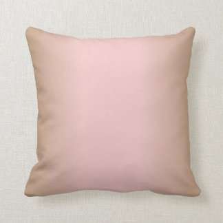 Rose Quartz and Iced Coffee Ombre Pink Brown Throw Pillow