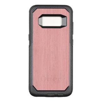 Rose Quartz Bamboo Wood Grain Look OtterBox Commuter Samsung Galaxy S8 Case