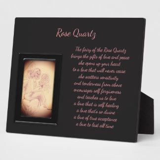 Rose Quartz Crystal Fairy Plaque