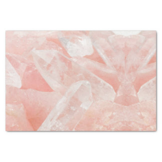 Rose Quartz Crystal Tissue Paper