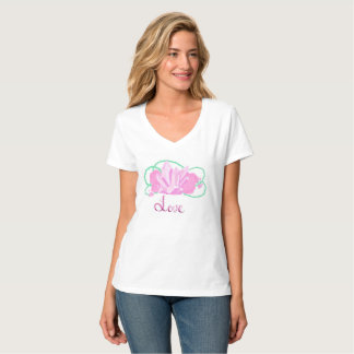 Rose Quartz Hanes Nano V-Neck T-Shirt