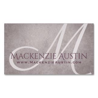 Rose-Quartz Mauve | Chic Dusty Pink Modern Website Magnetic Business Card