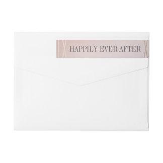 Rose Quartz Opaline Wedding Invitation Envelope Wrap Around Label