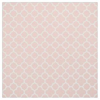Rose Quartz Pink Coral 2016 Quatrefoil Pattern Fabric