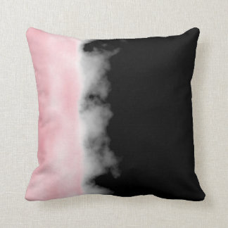 Rose Quartz Pink Druzy Geode Slice Crystal Art Throw Pillow