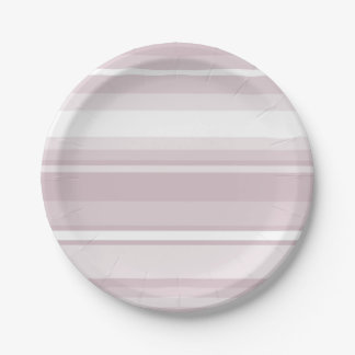 Rose quartz pink stripes paper plate