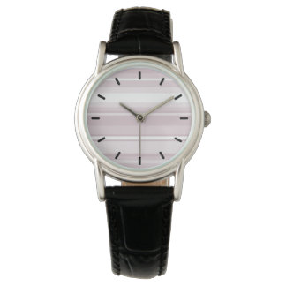 Rose quartz pink stripes watch