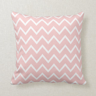 Rose Quartz Pink & White Chevron Throw Pillow