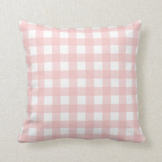 Rose Quartz Pink & White Gingham Check Throw Pillow