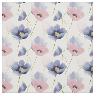 Rose Quartz & Serenity Floral Pattern Fabric
