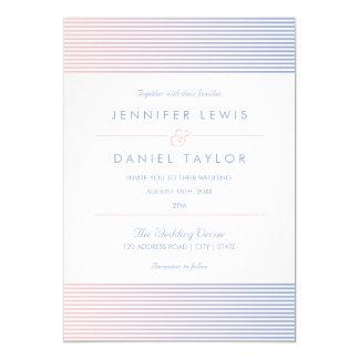 Rose Quartz & Serenity Ombré Stripe Wedding Card