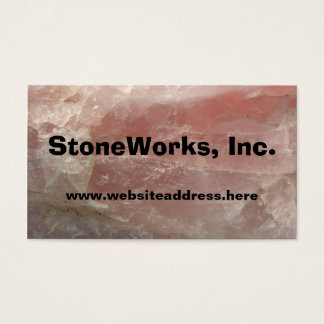 Rose Quartz Stone, Business Card Template