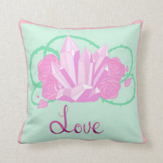 "Rose Quartz Throw Pillow 16""x16"" Colored"