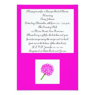 Rose Recipe Card Recipe Bridal Shower Invitation