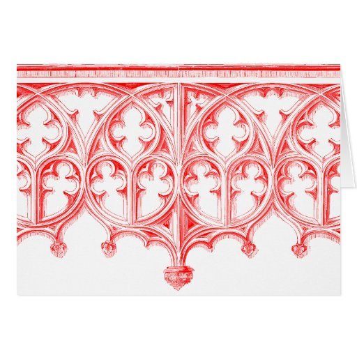 Rose Red Cathedral Note Cards