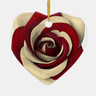 Rose Red Ceramic Ornament