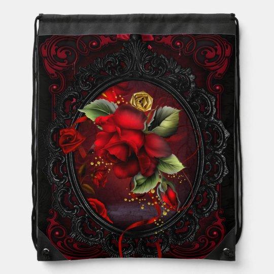 Rose Red Cinch Bag