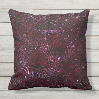 Rose Red Fire Stone I SDL Throw Pillow