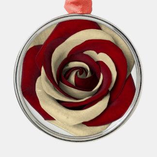Rose Red Metal Ornament