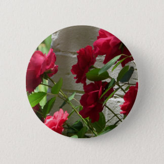 rose,red rose 2 inch round button