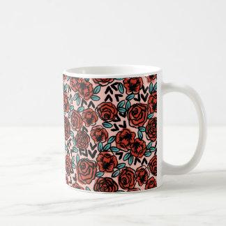 Rose Red Vintage Floral Flower  / Andrea Lauren Coffee Mug