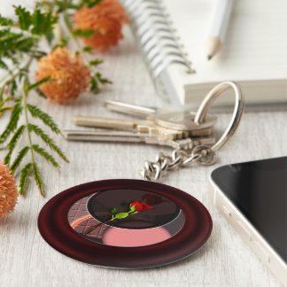 Rose reflections keychain