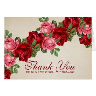 Rose Romantic Elegant Thank you card
