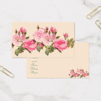 Rose, roses vintages, carte de visite féminin