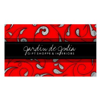 rose rouge de 311-Jardin de Julia Modèles De Cartes De Visite