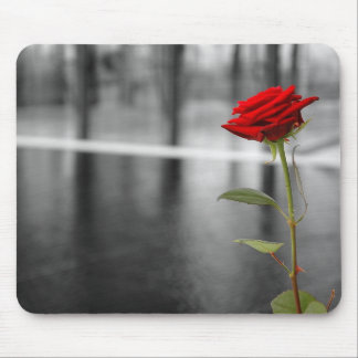 Rose rouge Mousepad Tapis De Souris