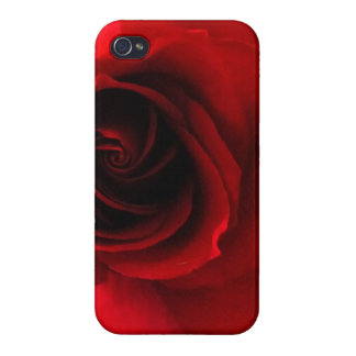 Rose rouge rouge coque iPhone 4