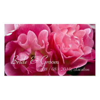 Rose :: Save the Date / Wedding Website Mini Card Business Cards
