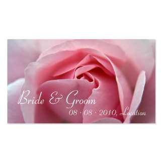 Rose :: Save the Date / Wedding Website Mini Card Business Card Templates