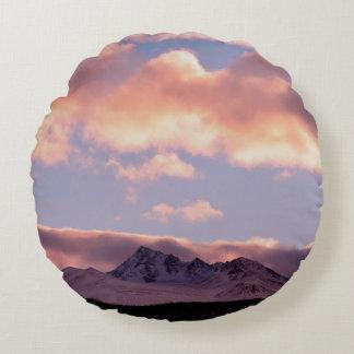 Rose Serenity Sunrise Round Pillow