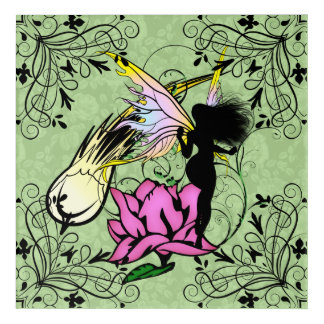 Rose Shadow Fairy Acrylic Wall Art