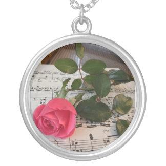 Rose Sheet Music Necklace