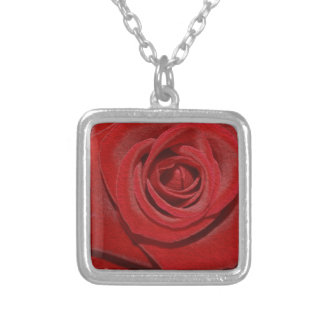 Rose Silver Plated Necklace