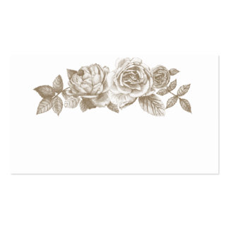 Rose Sketch Place Cards in Sepia Business Card