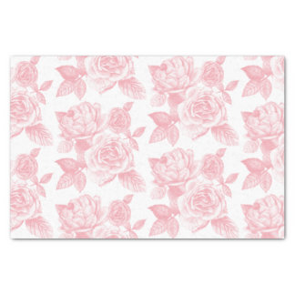 Rose Sketch Tissue Paper in Pink